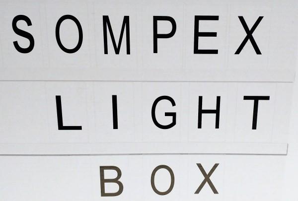Schriftbox mit LED