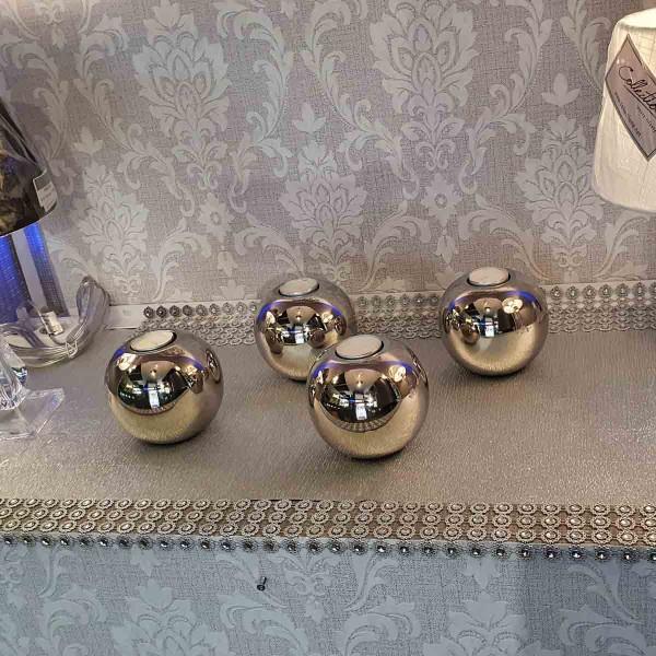 Teelicht mit Kugel Aluminium