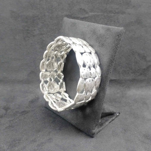 Breites Armband versilbert