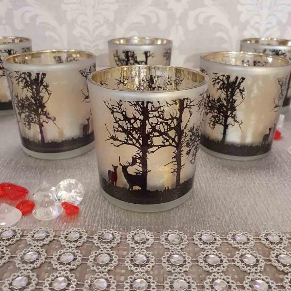 Kerzen-glas Hirsch