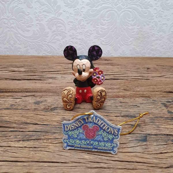 Mickey Maus mit Blumen