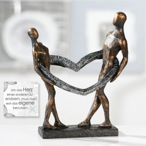 Skulptur Herz mit Paar