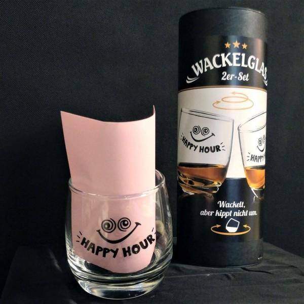 Lustige Wackel-Gläser