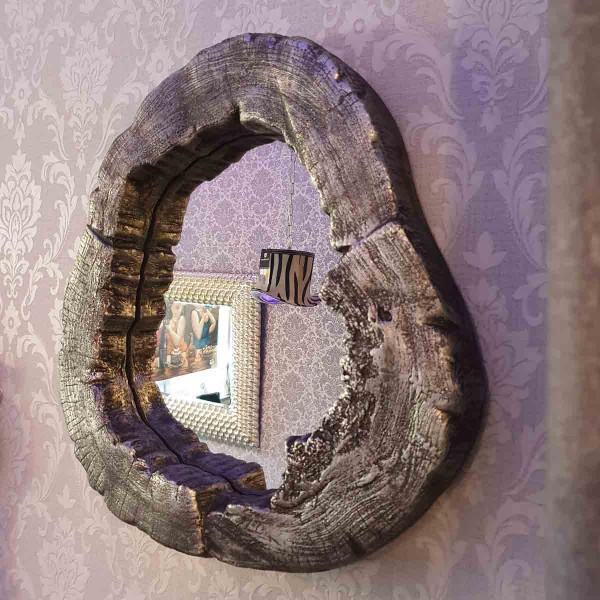 Wandspiegel Optik Baumscheibe